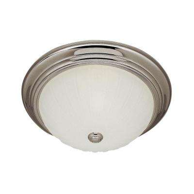 Stewart 2-Light Brushed Nickel Incandescent Ceiling Flush Mount