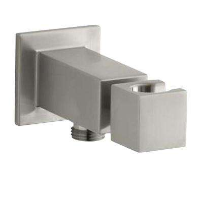 Loure Wall-Mount Metal Handshower Holder in Vibrant Brushed Nickel