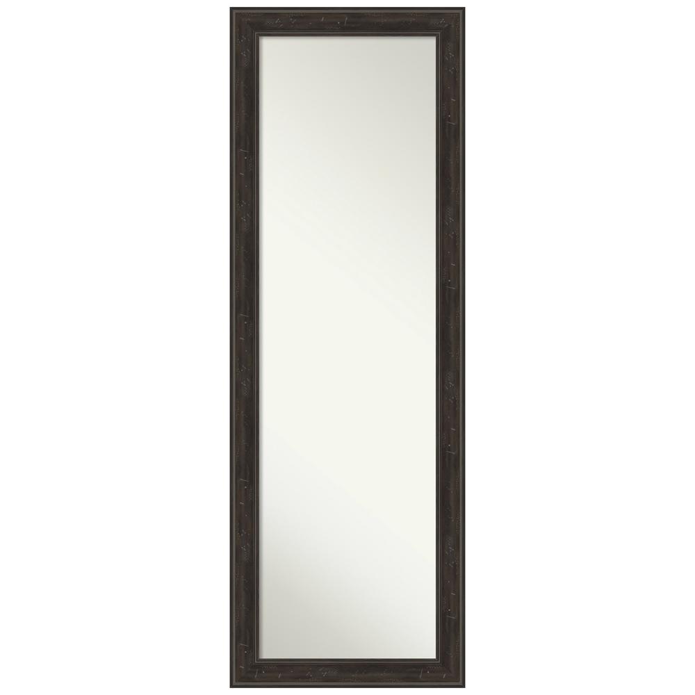 Large Rectangle Distressed Brown/Tan Modern Mirror (52 in. H x 18 in. W)