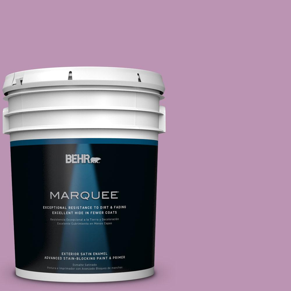 BEHR MARQUEE 5-gal. #HDC-MD-10 Blooming Lilac Satin Enamel Exterior Paint