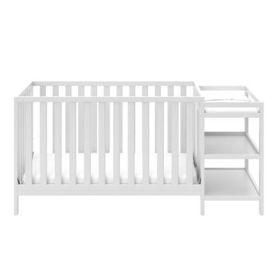 Pacific White 4-in-1 Convertible Crib and Changer