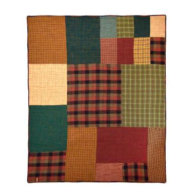 Campfire Square Red Cotton Throw