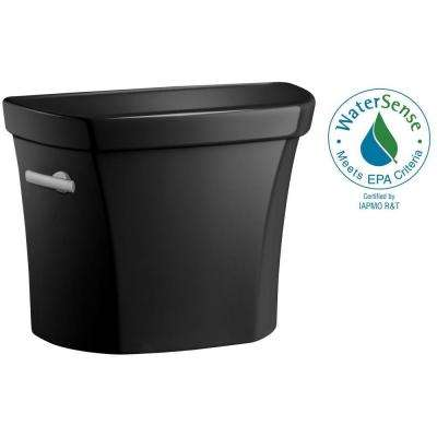 Wellworth 1.6 GPF Single Flush Toilet Tank Only in Black Black