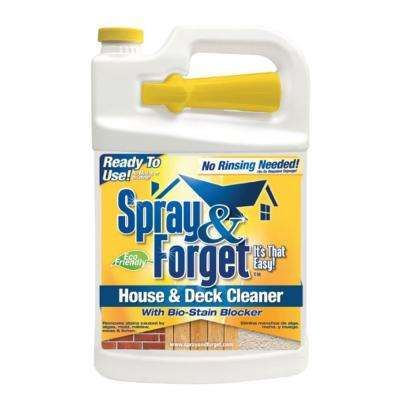 1 gal. House and Deck Cleaner, Outdoor Mold Remover, with Nestable Trigger Bottle