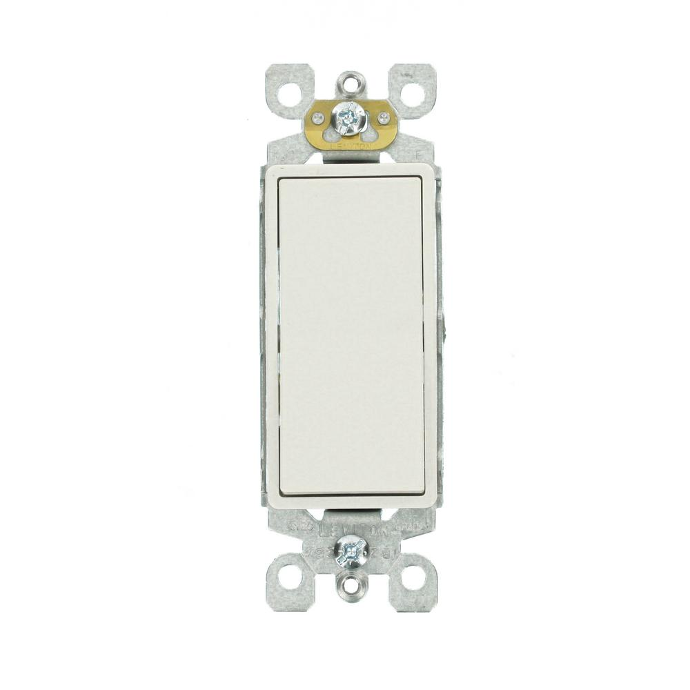 leviton decora 15 amp 3 way switch, white r62 05603 2ws the home depot