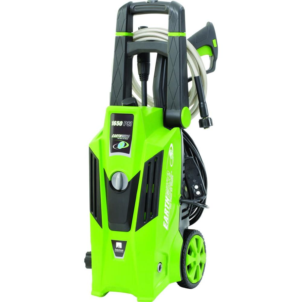 earthwise 1 650 psi 1 4 gpm electric pressure washer pw16503 the rh homedepot com