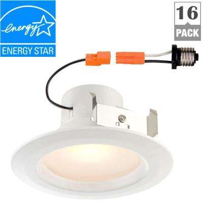 Standard Retrofit 4 in. White Recessed Trim Day LED Ceiling Light with 92 CRI, 5000K (16-Pack)