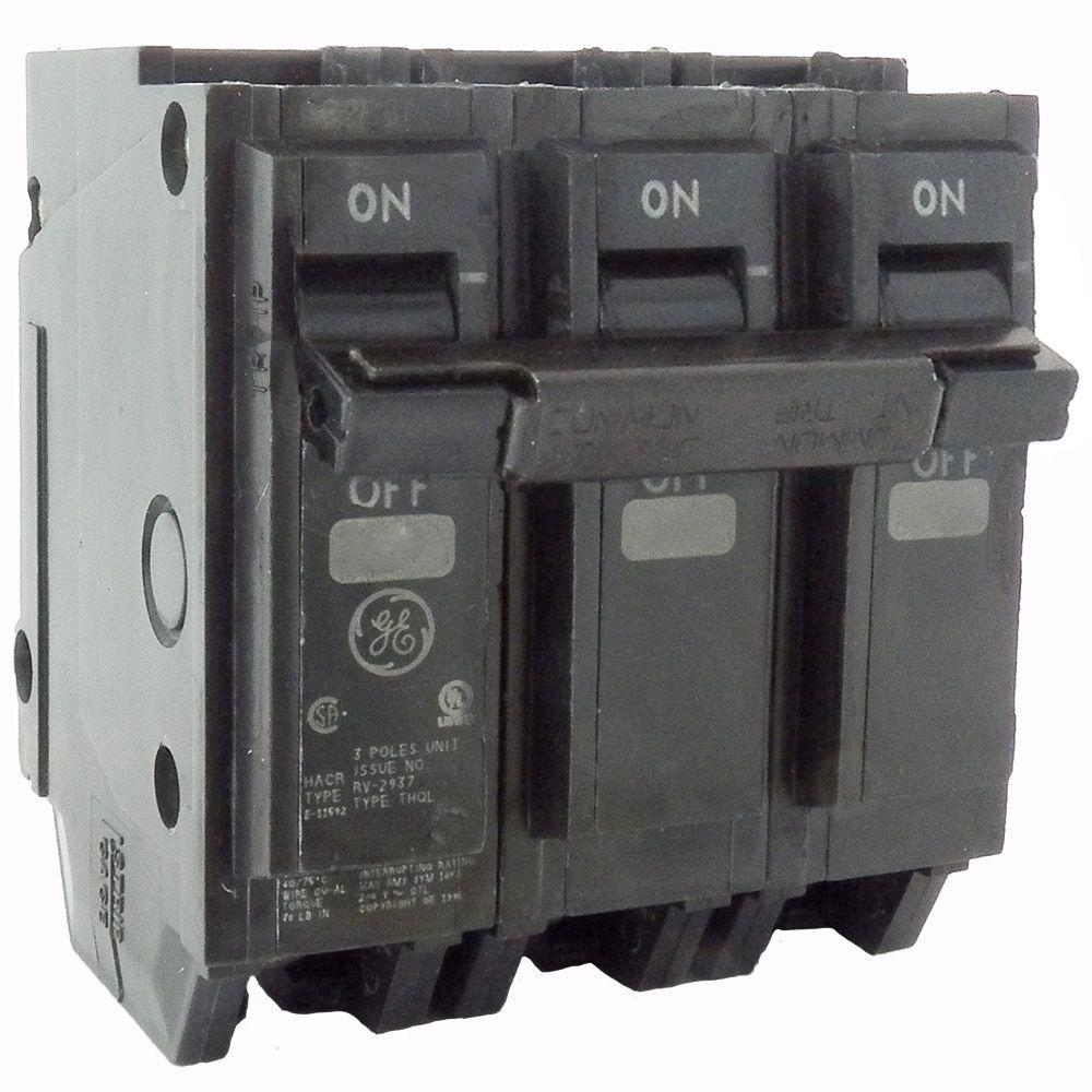 GE 60 Amp 3 in. 3-Pole Circuit Breaker A Amp Circuit Breaker Wiring on