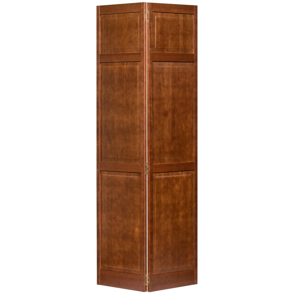 6 Panel 30 X 79 Bifold Doors Interior Closet Doors The Home Depot