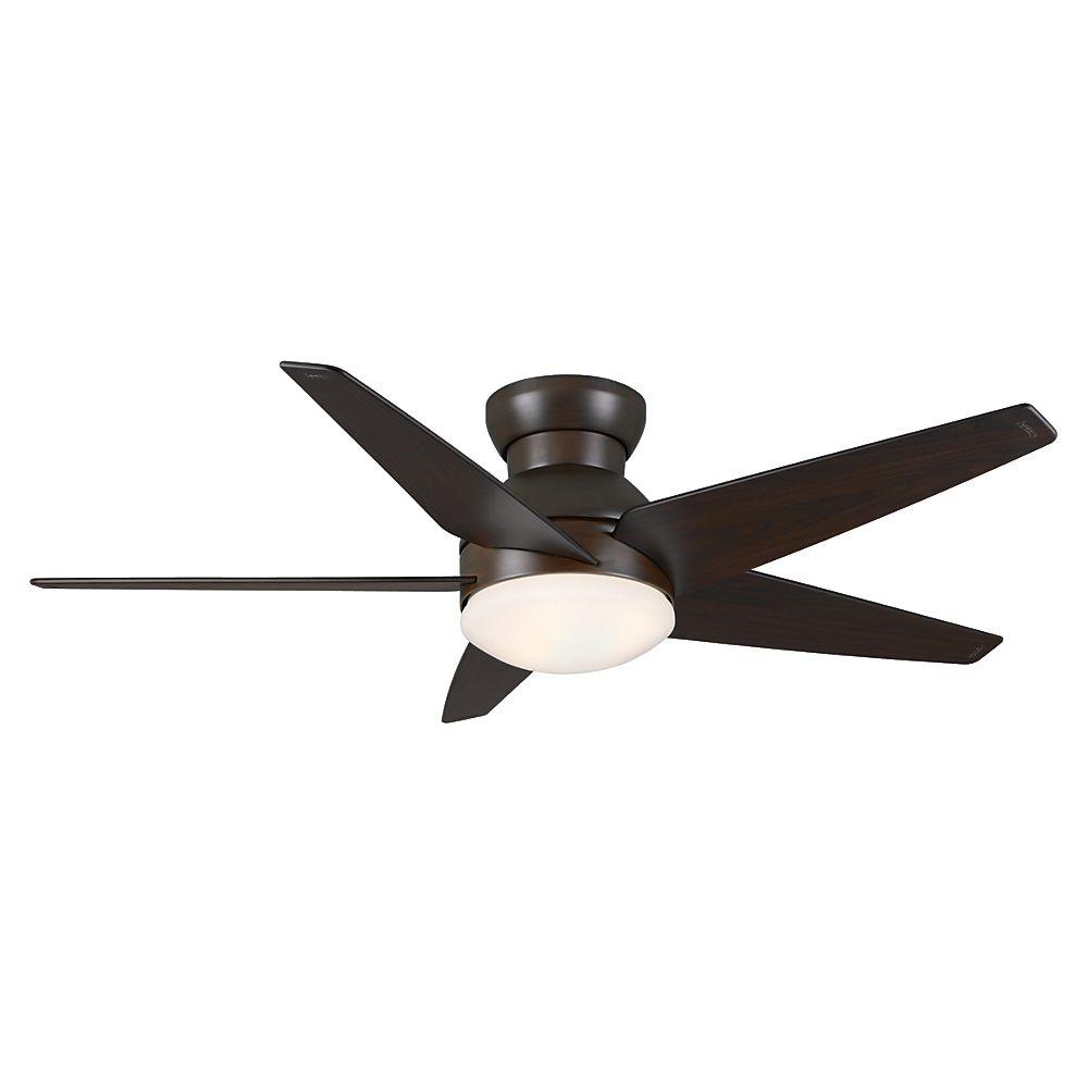 Casablanca Isotope 52 in. Indoor Brushed Cocoa Ceiling Fan with Prime Touch Wall Control -DISCONTINUED
