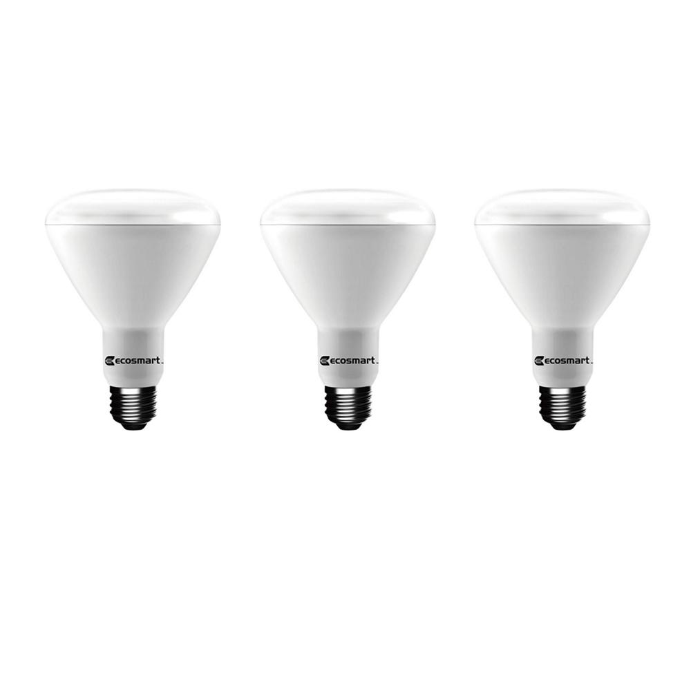 65-Watt Equivalent BR30 Dimmable Energy Star LED Light Bulb Daylight (3-Pack)
