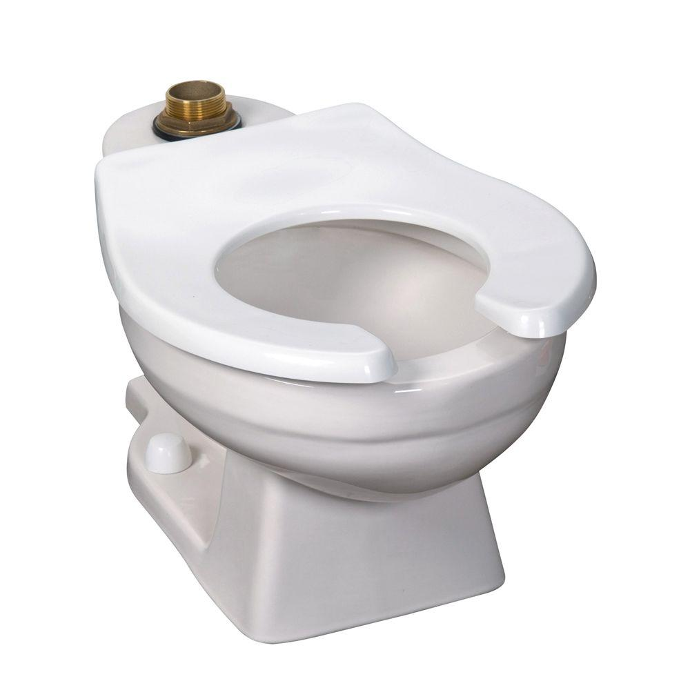 Crane Baby Bowl Flushometer 1.6 GPF Elongated Toilet Bowl Only in White-DISCONTINUED