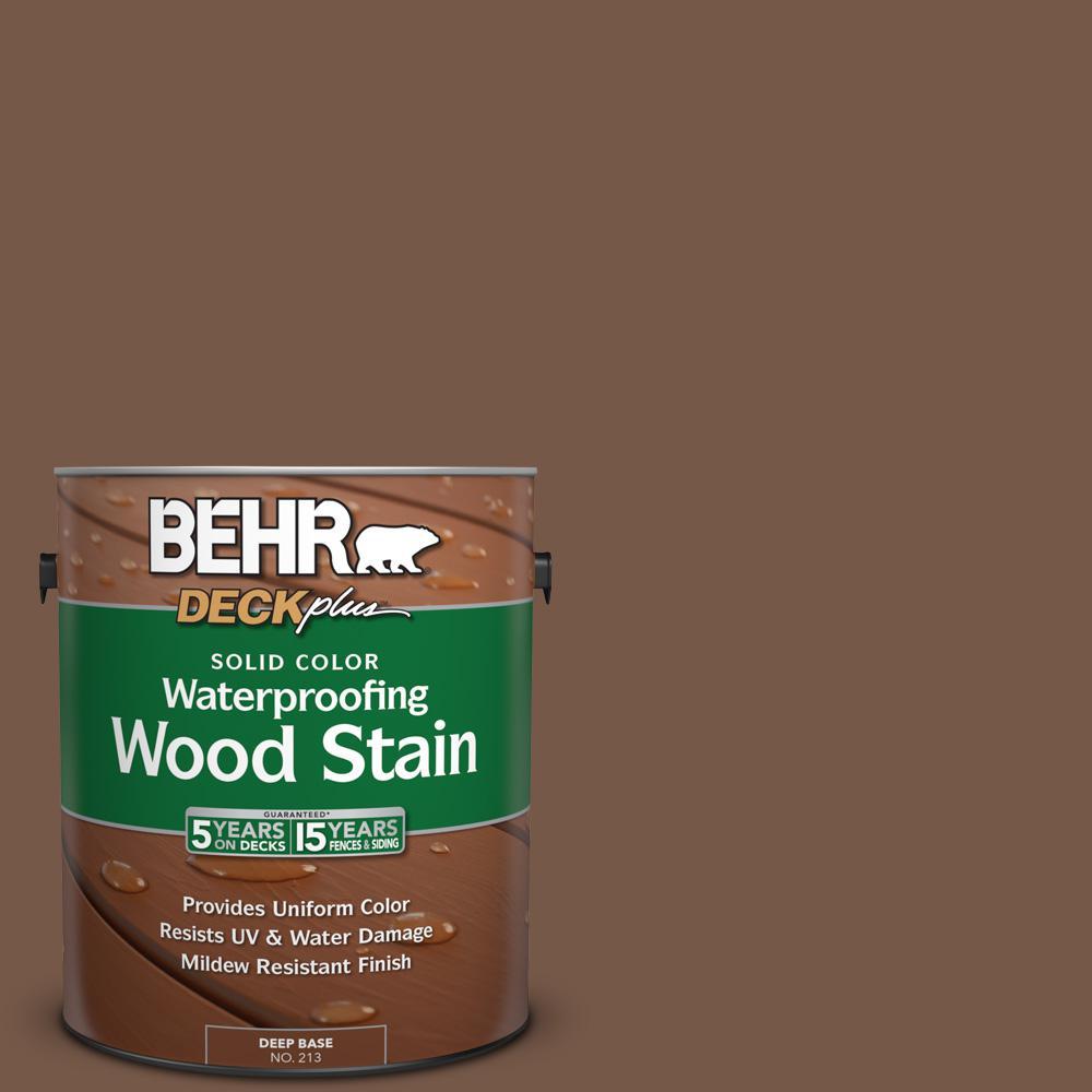 1 gal. #N250-7 Mission Brown Solid Color Waterproofing Exterior Wood Stain