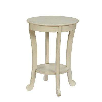 Moacir Antique White Side Table
