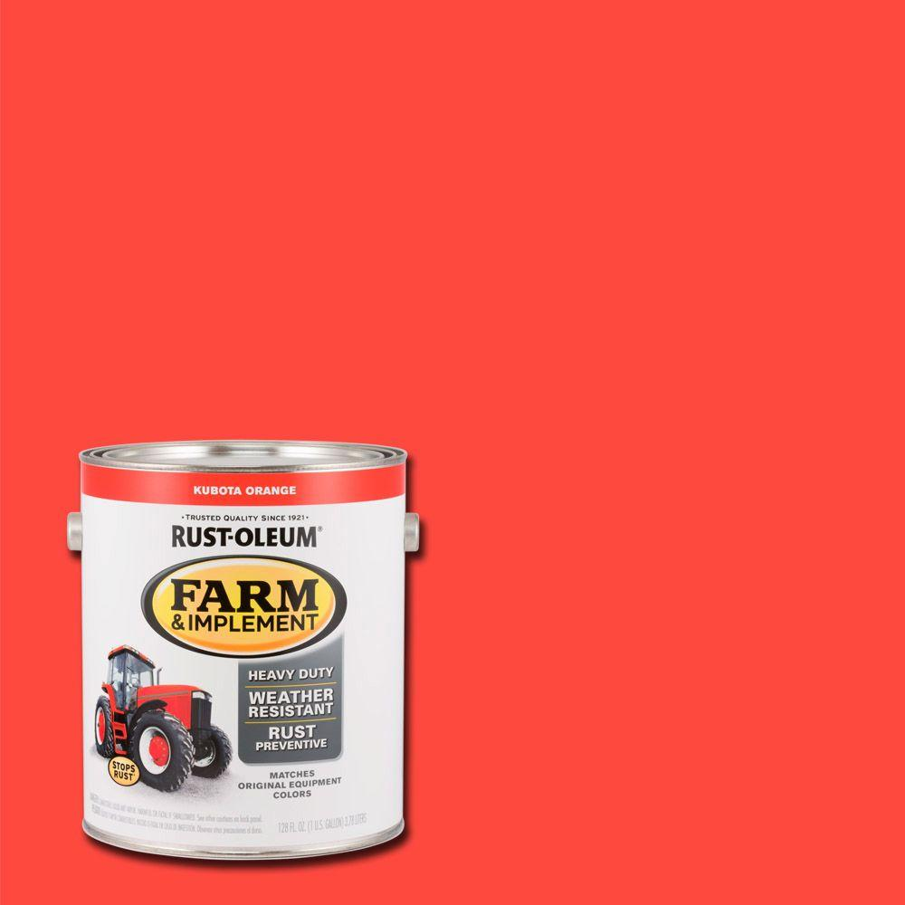 Rust Oleum 1 Gal Farm And Implement Kubota Orange Paint