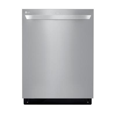 LG Top control Dishwasher in PrintProof Stainless Steel with QuadWash, 3rd Rack, Wi-Fi Enabled, and EasyRack Plus, 46dBA