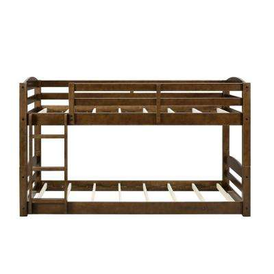 Noma Twin Mocha Wood Bunk Bed Frame
