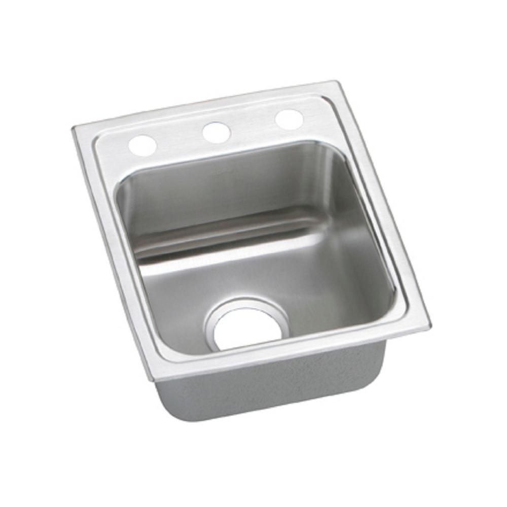 Elkay Lustertone Drop-In Stainless Steel 15 in. 3-Hole Single Bowl ADA Compliant Kitchen Sink with 6 in. Bowl
