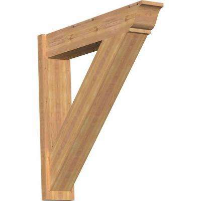 8 in. x 38 in. x 38 in. Western Red Cedar Traditional Smooth Outlooker