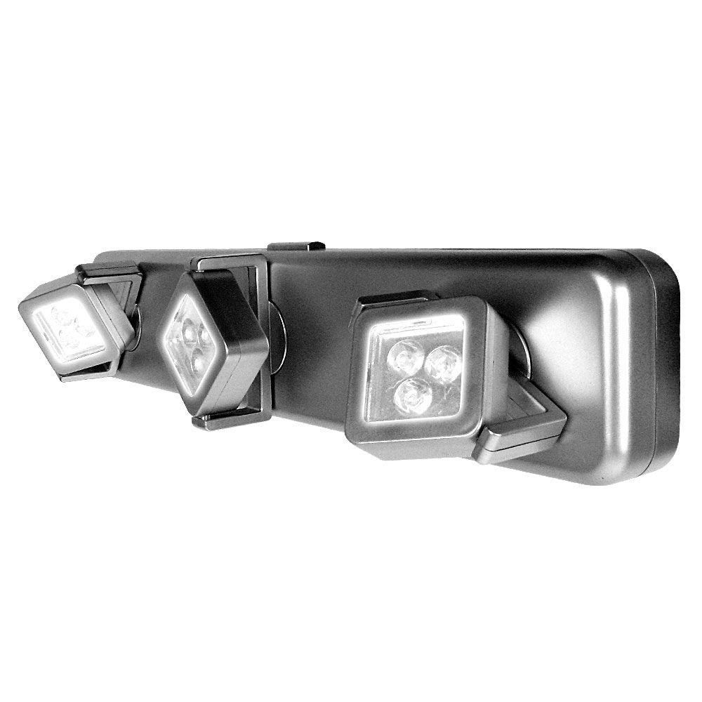 Exceptional Trademark 3 Light Gray Under Cabinet Light Fixture (9 Bright LEDs)