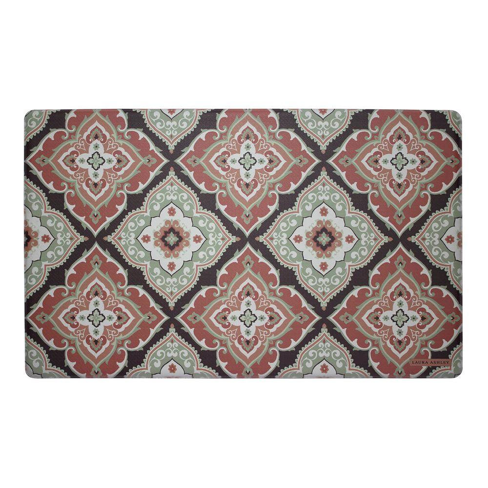 Allie Rust 20 in. x 32 in. Memory Foam Kitchen Mat
