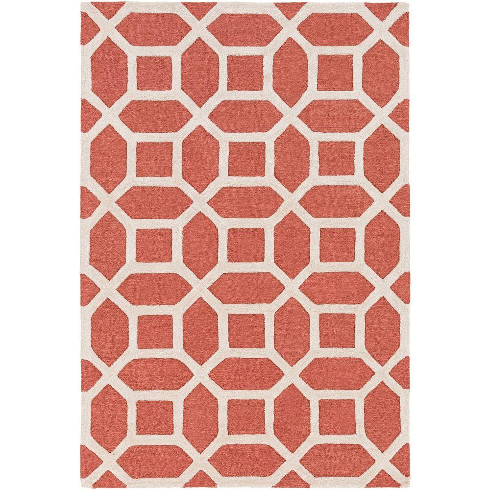 Arise Evie Coral 4 ft. x 6 ft. Indoor Area Rug