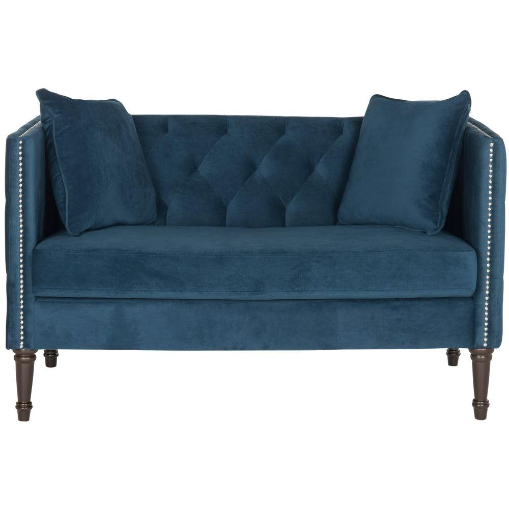 Safavieh Sarah Navy Loveseat