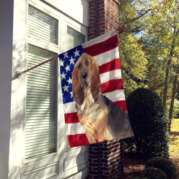 Caroline S Treasures 2 3 Ft X 3 3 Ft Polyester Patriotic Usa Bloodhound 2 Sided Heavyweight Flag Canvas House Size Ck1739chf The Home Depot
