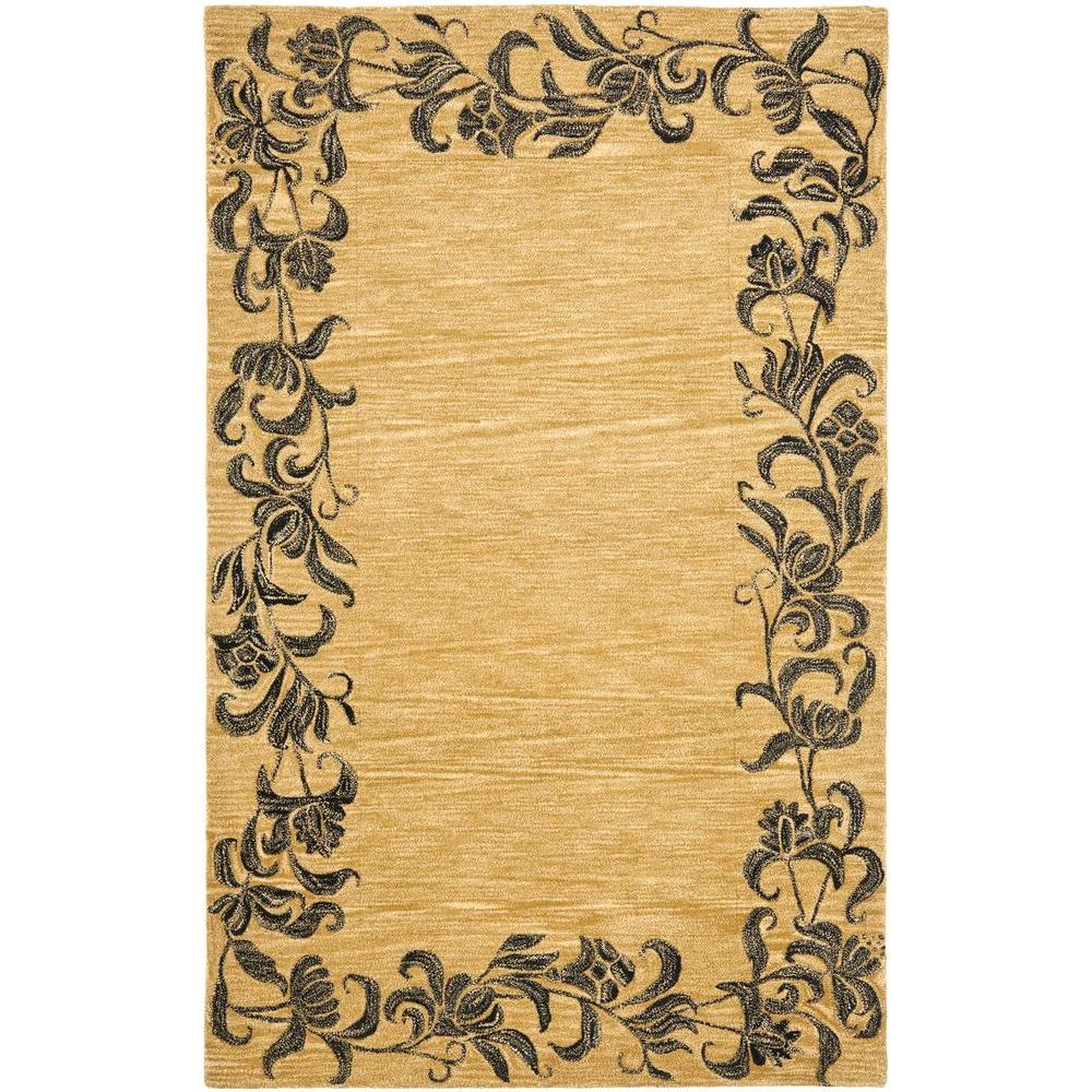 Soho Gold/Black 5 ft. x 8 ft. Area Rug