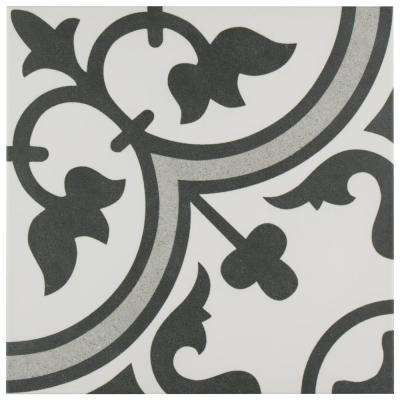 Arte Grey Encaustic 9-3/4 in. x 9-3/4 in. Porcelain Floor and Wall Tile (36 cases / 399.96 sq. ft. / pallet)