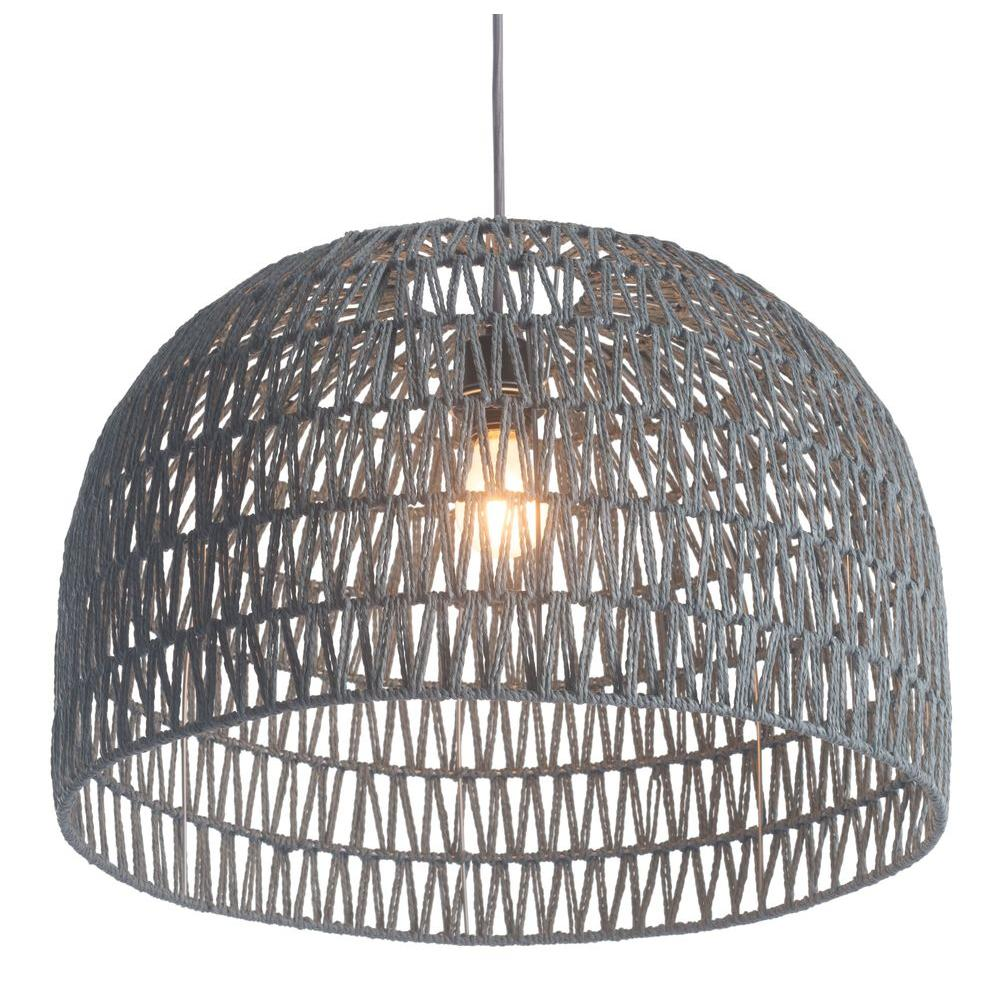 Zuo Paradise Gray Ceiling Lamp