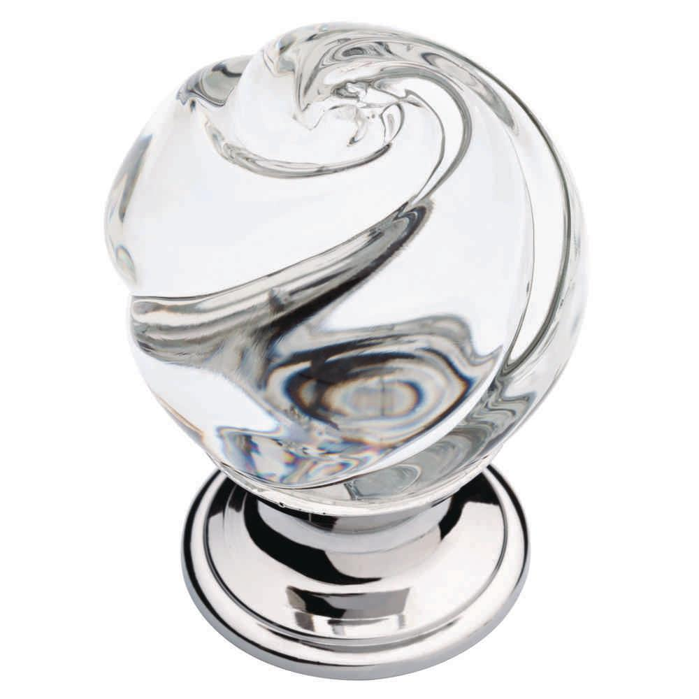 Clear Glass Cabinet Knobs. Chrome And Clear Swirled Glass Cabinet Knob Knobs  Home Depot