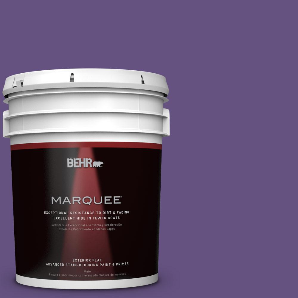 Home Decorators Collection 5-gal. #HDC-MD-25 Virtual Violet Flat Exterior Paint