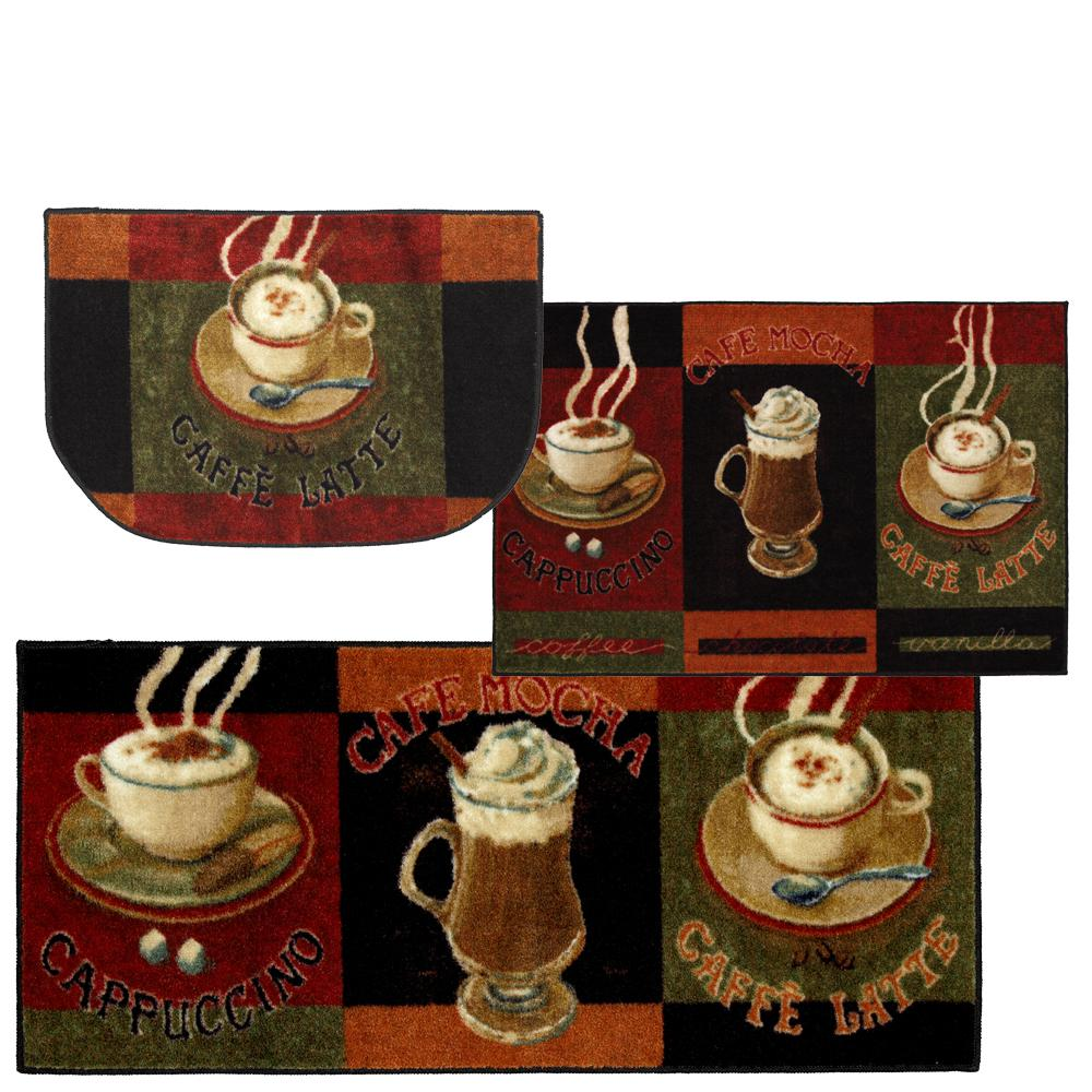 Mohawk Home Caffe Latte Primary 2.6 ft. x 3.10 ft. Kitchen Mat (3-Piece Set)