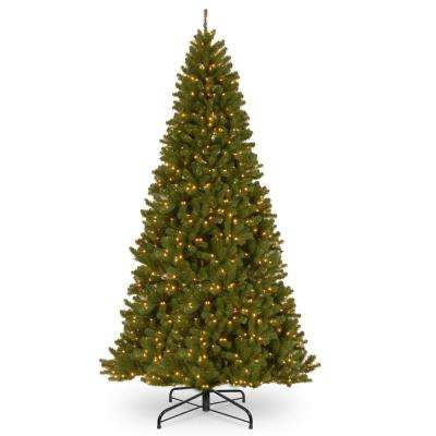 12 ft. North Valley Spruce Hinged Tree with 1400 Clear Lights