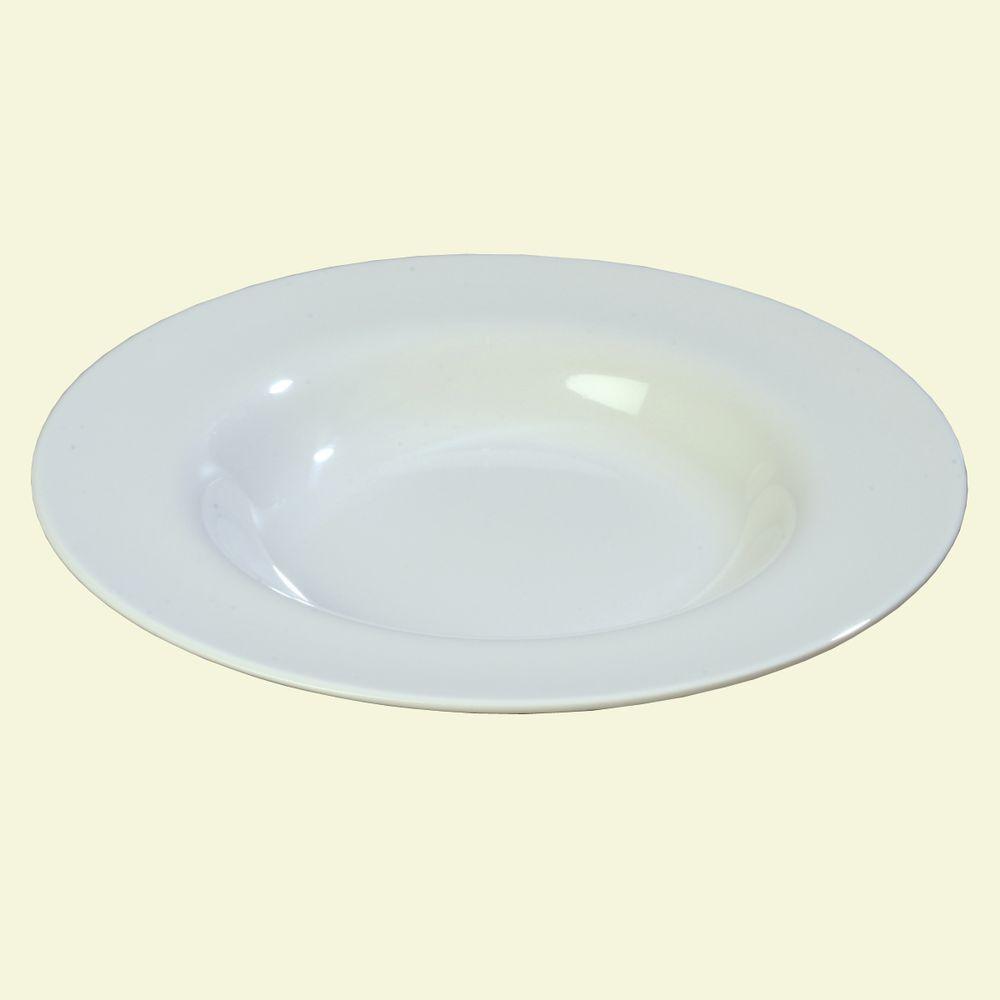 20 oz., 12.02 in. Diameter Melamine Chef Salad/Pasta/Soup Bowl in White