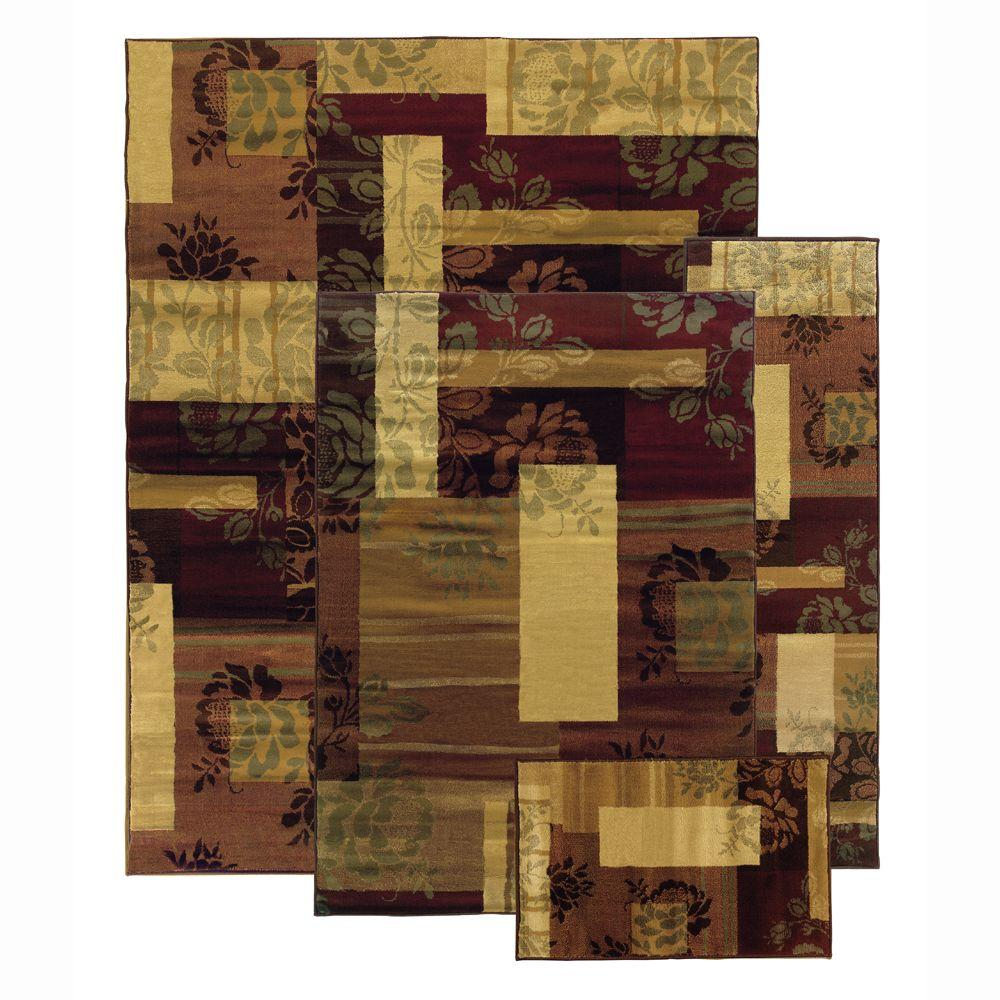 Oriental Weavers Namburg Multi 7 ft. 6 in. x 10 ft. 4-Piece Rug Set-DISCONTINUED