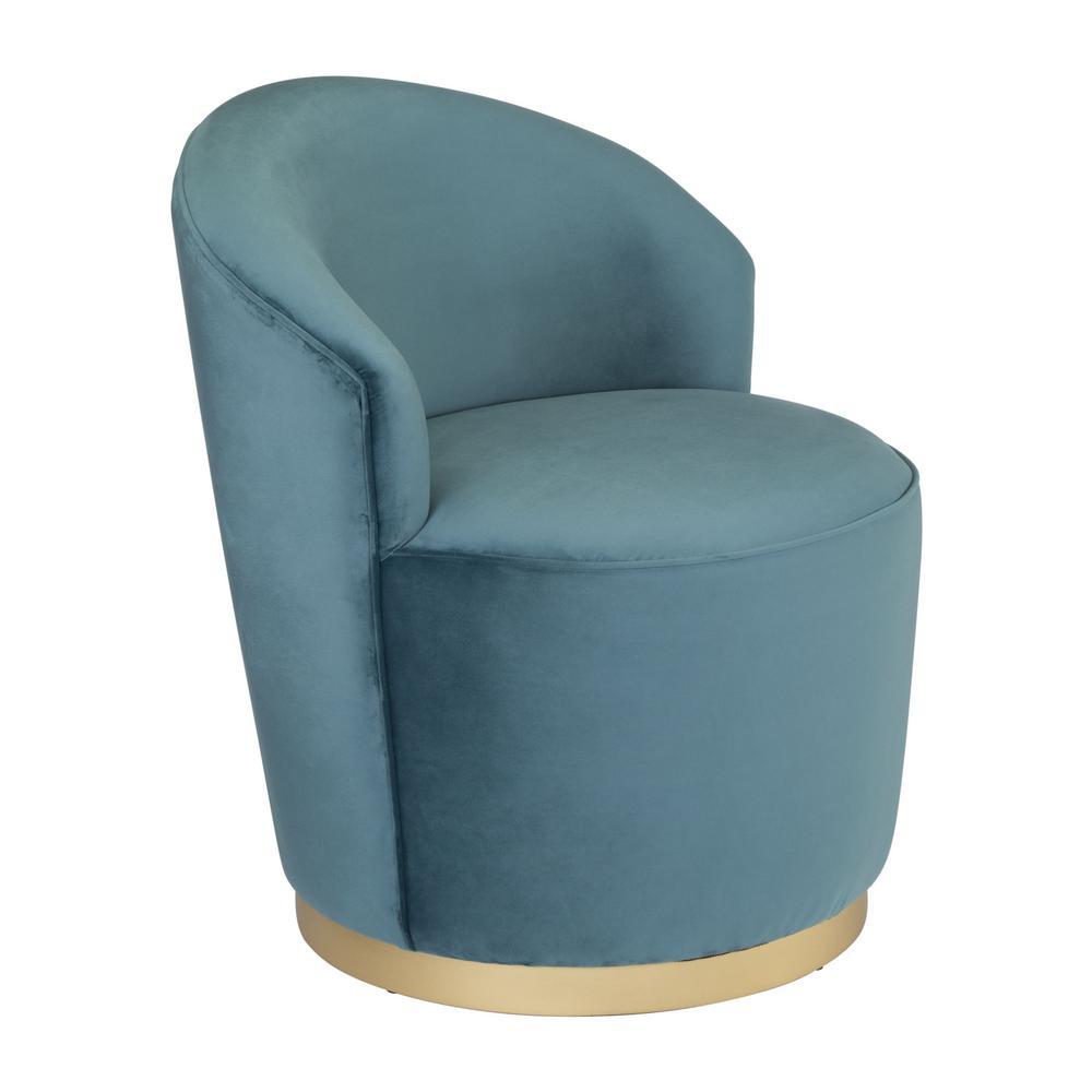 Zoey Green Velvet Arm Chair