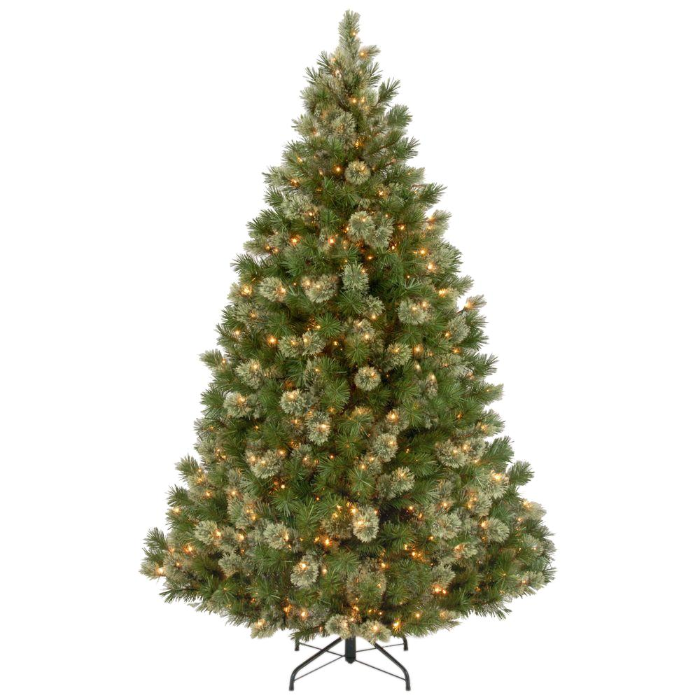 national tree company 7 12 ft wispy willow grande medium hinged artificial - National Christmas Tree Company