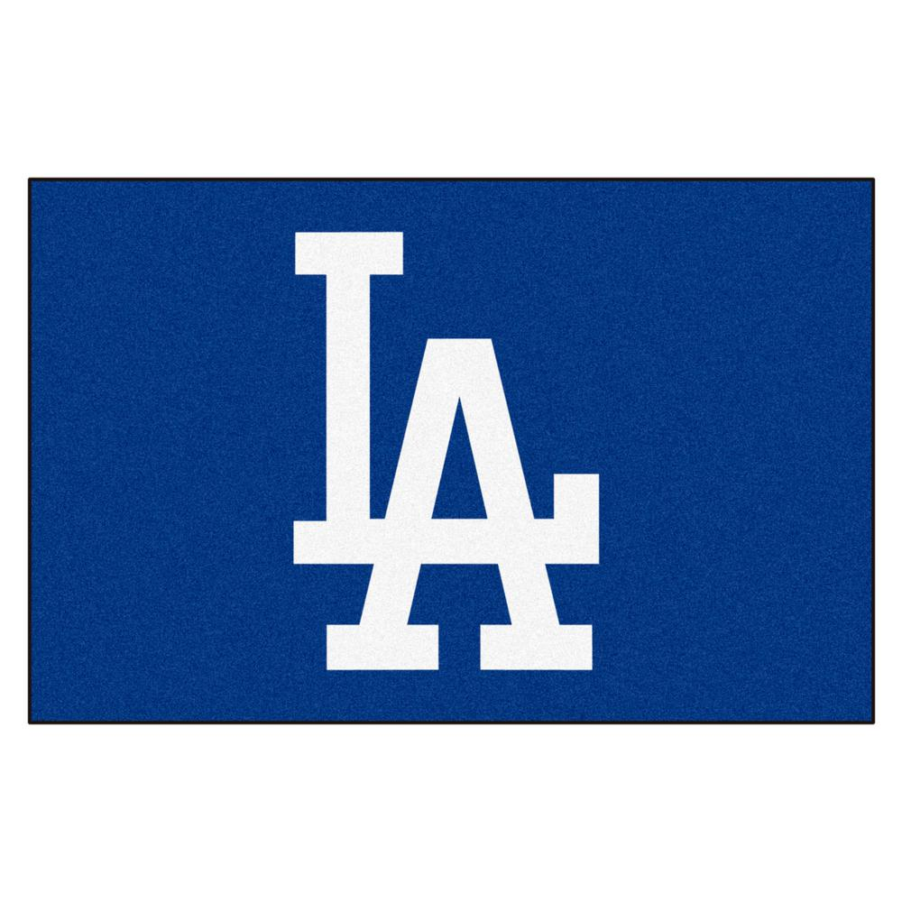 fanmats mlb los angeles dodgers blue 2 ft x 3 ft indoor area rug