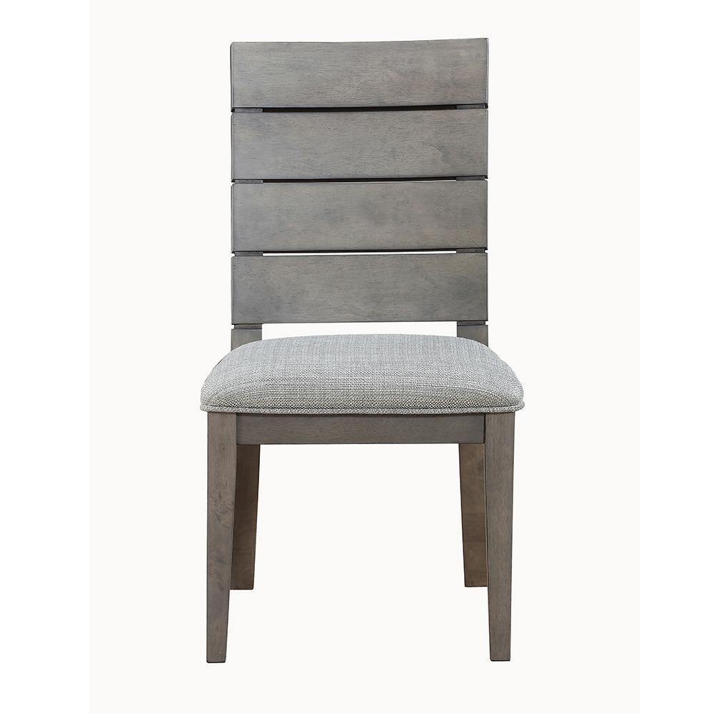 new style 0f8f8 33f40 Elora Ladder Back Grey Side Chair (set of 2)