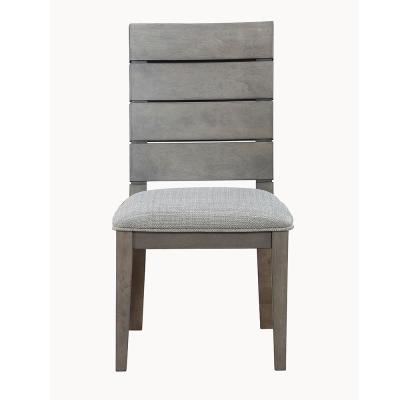 Elora Ladder Back Grey Side Chair  (set of 2)