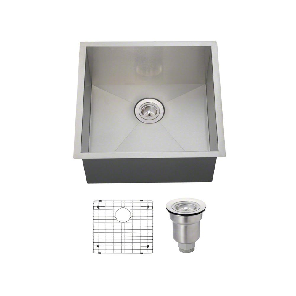 MR Direct All-in-One Undermount Stainless Steel 20 in. Single Basin Kitchen Sink