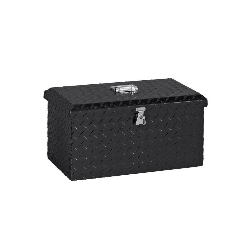 21 in. Aluminum Black Large Tool Box