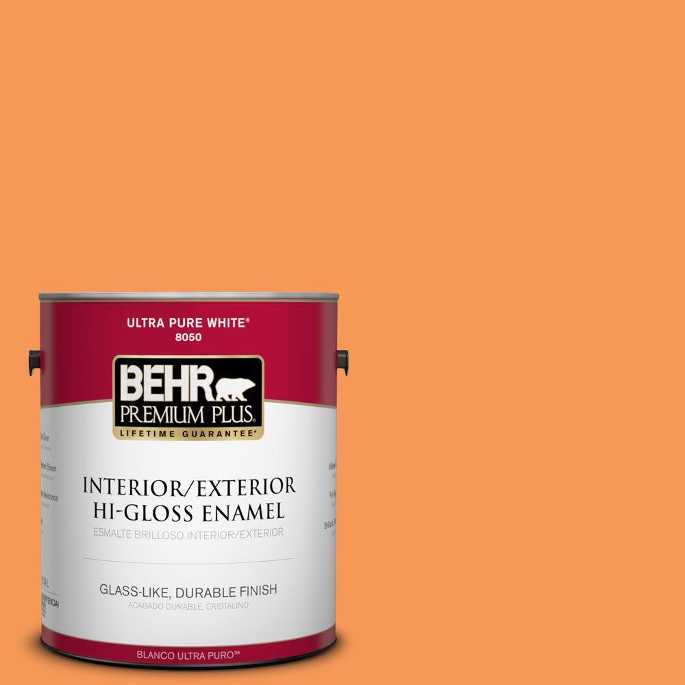 1-gal. #260B-6 Blaze Orange Hi-Gloss Enamel Interior/Exterior Paint