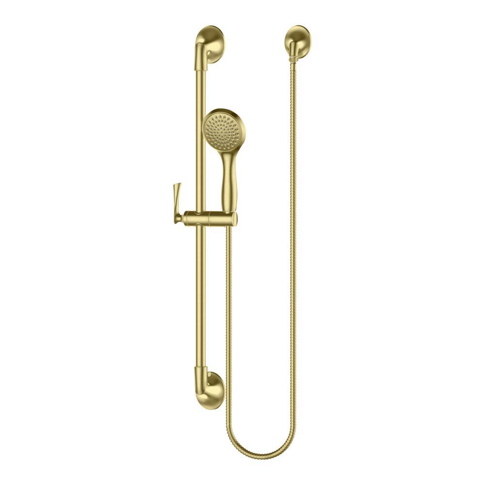 Rhen 1-Spray Slide Bar Hand Shower in Brushed Gold