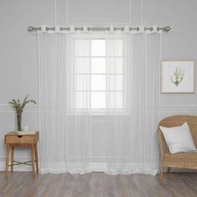 84 in. L Simple Sheer Dot Curtains (2-Pack)