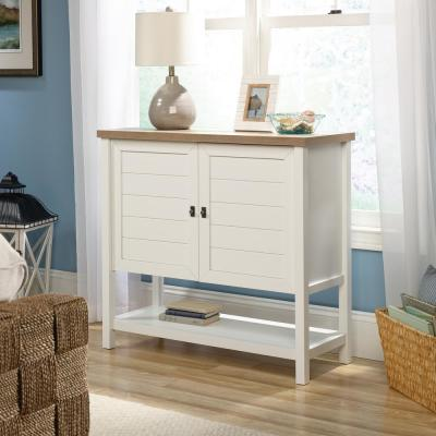 Cottage Road Soft White Accent Storage Cabinet