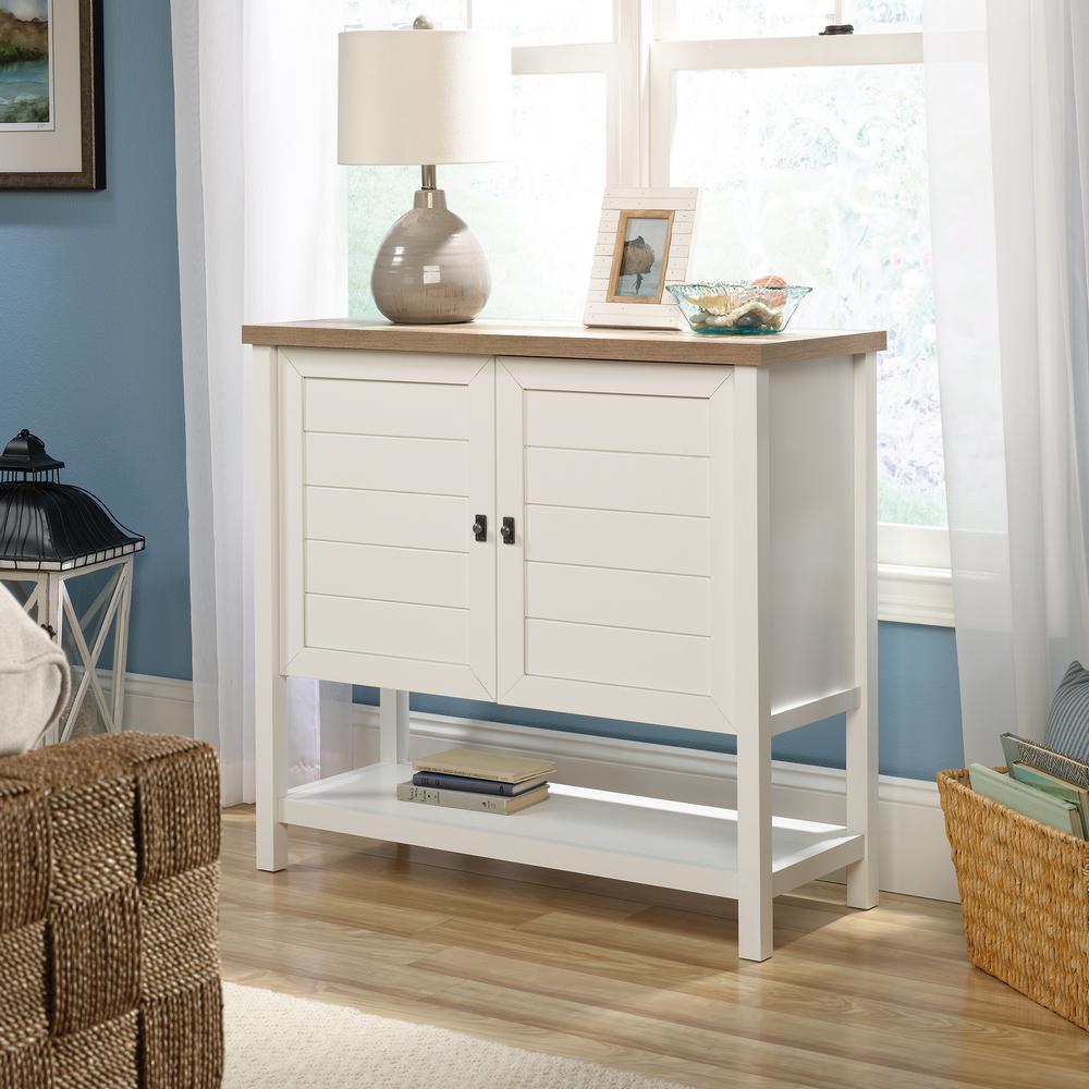 SAUDER Cottage Road Soft White Accent Storage Cabinet