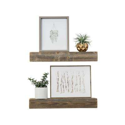Haute 4in X 24in 3 5in Wood Floating Box Set Of Two Decorative Wall Shelves